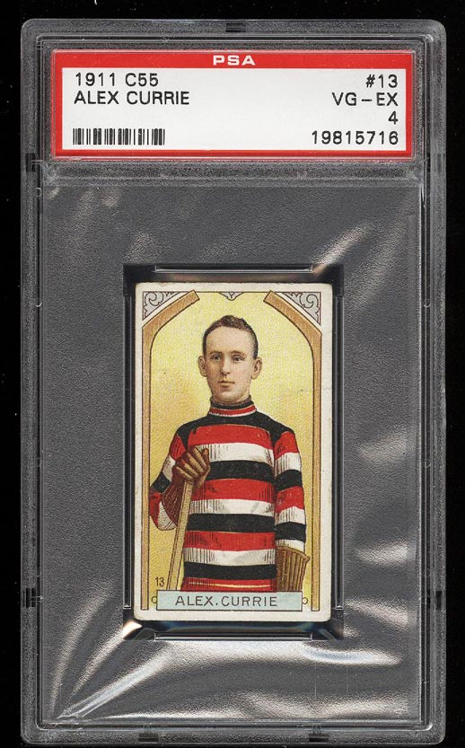 Image of: 1911 C55 Hockey Alex Currie #13 PSA 4 VGEX (PWCC)