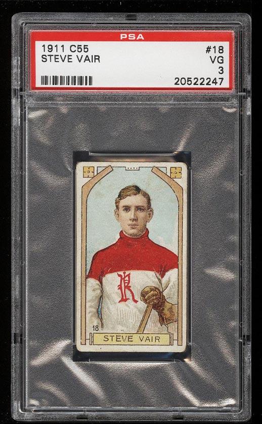 Image of: 1911 C55 Hockey Steve Vair #18 PSA 3 VG (PWCC)