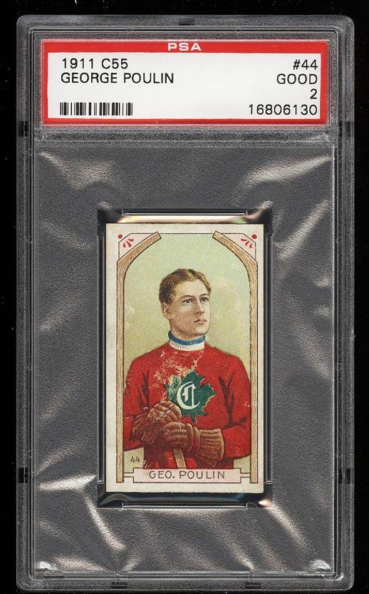 Image of: 1911 C55 Hockey George Poulin #44 PSA 2 GD (PWCC)