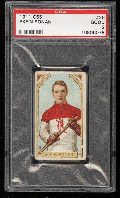 Image of: 1911 C55 Hockey Skein Ronan #26 PSA 2 GD (PWCC)