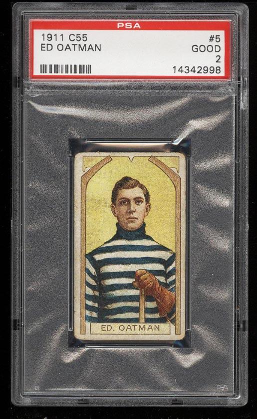 Image of: 1911 C55 Hockey Ed Oatman #5 PSA 2 GD (PWCC)