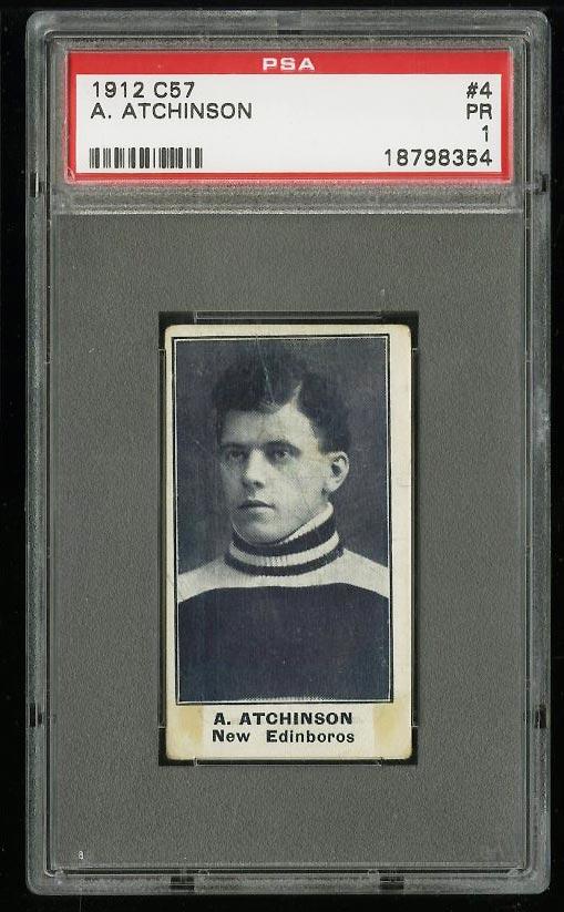Image of: 1912 C57 Hockey A. Atchinson #4 PSA 1 PR (PWCC)