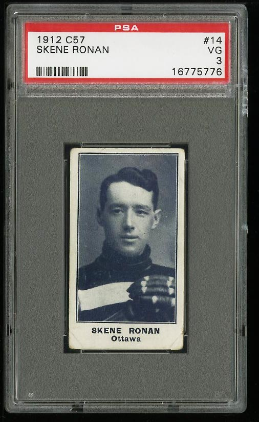 Image of: 1912 C57 Hockey Skene Ronan #14 PSA 3 VG (PWCC)