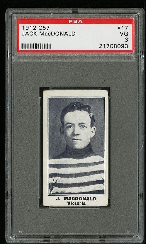 Image of: 1912 C57 Hockey Jack MacDonald #17 PSA 3 VG (PWCC)