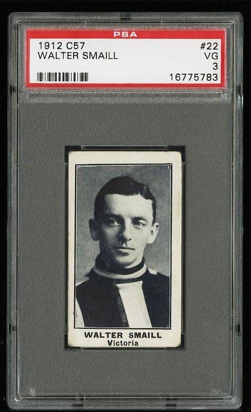 Image of: 1912 C57 Hockey Walter Smaill #22 PSA 3 VG (PWCC)