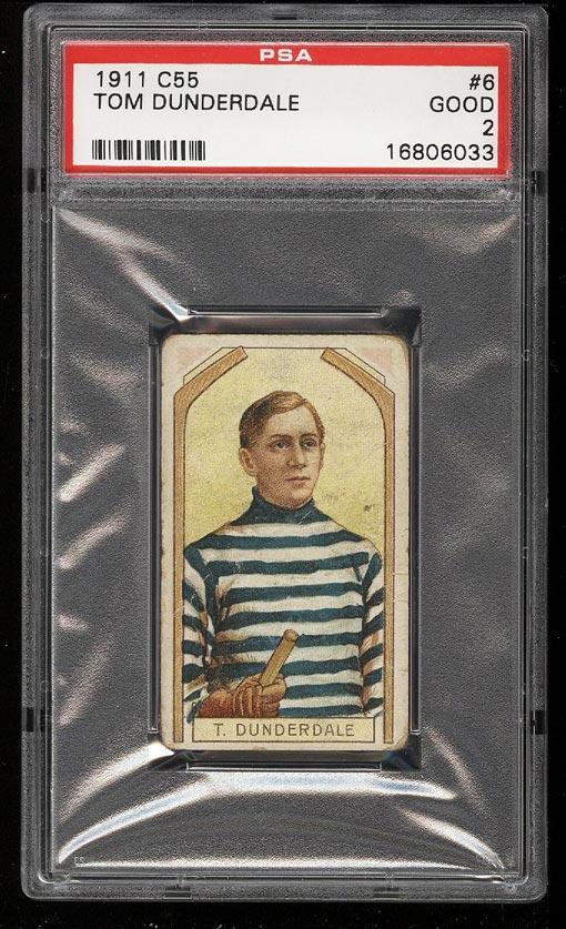 Image of: 1911 C55 Hockey Tom Dunderdale #6 PSA 2 GD (PWCC)