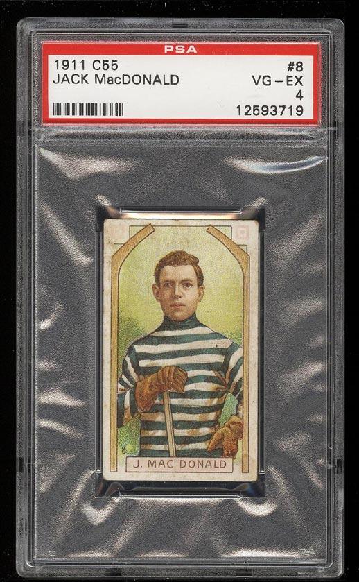 Image of: 1911 C55 Hockey Jack MacDonald #8 PSA 4 VGEX (PWCC)