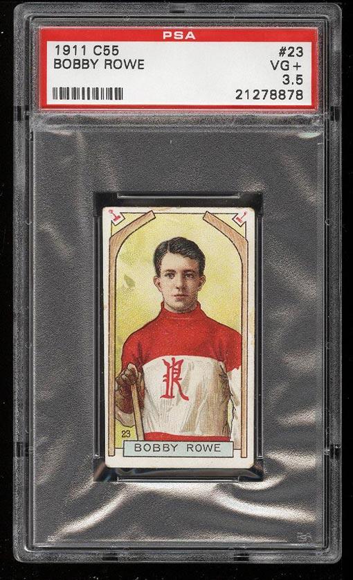 Image of: 1911 C55 Hockey Bobby Rowe #23 PSA 3.5 VG+ (PWCC)