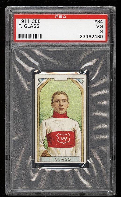 Image of: 1911 C55 Hockey Frank Glass #34 PSA 3 VG (PWCC)