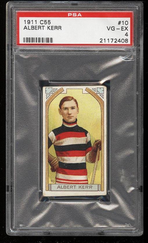 Image of: 1911 C55 Hockey Albert Kerr #10 PSA 4 VGEX (PWCC)