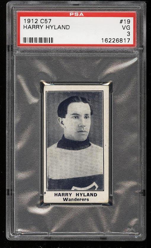 Image of: 1912 C57 Hockey Harry Hyland #19 PSA 3 VG (PWCC)