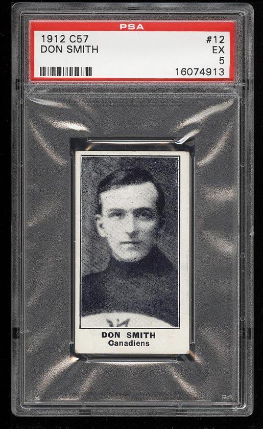 Image of: 1912 C57 Hockey Don Smith #12 PSA 5 EX (PWCC)