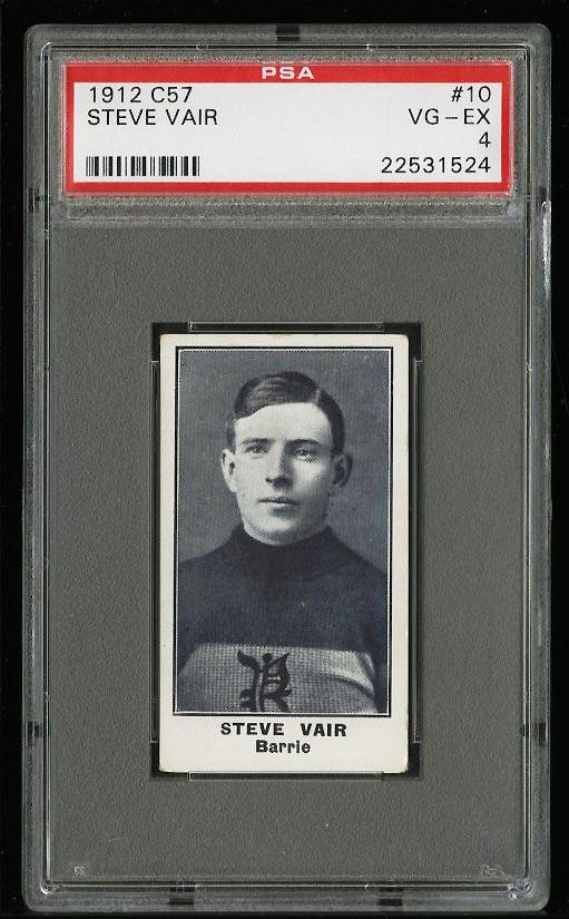 Image of: 1912 C57 Hockey Steve Vair #10 PSA 4 VGEX (PWCC)