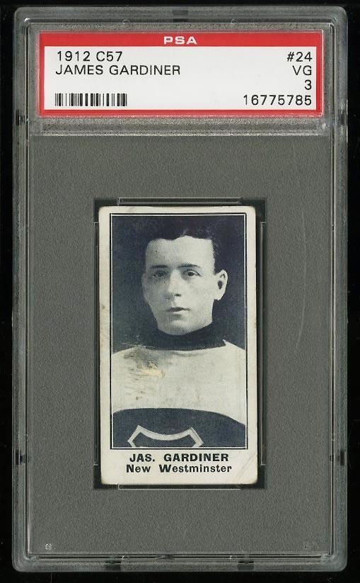 Image of: 1912 C57 Hockey James Gardiner #24 PSA 3 VG (PWCC)