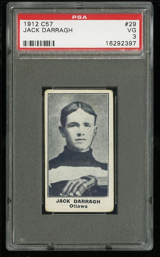 Image of: 1912 C57 Hockey Jack Darragh #29 PSA 3 VG (PWCC)