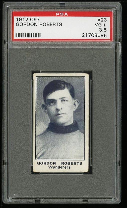 Image of: 1912 C57 Hockey Gordon Roberts #23 PSA 3.5 VG+ (PWCC)