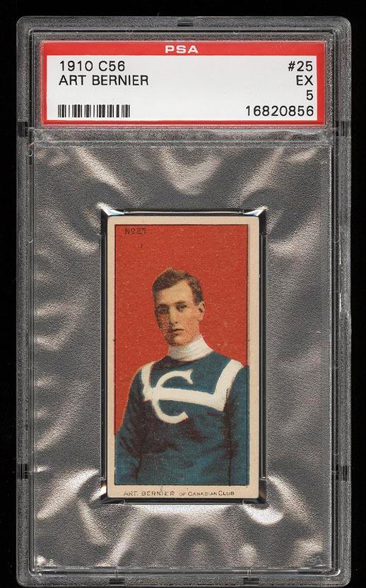 Image of: 1910 C56 Hockey Art Bernier #25 PSA 5 EX (PWCC)