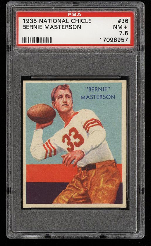 Image of: 1935 National Chicle Bernie Masterson #36 PSA 7.5 NRMT+ (PWCC)