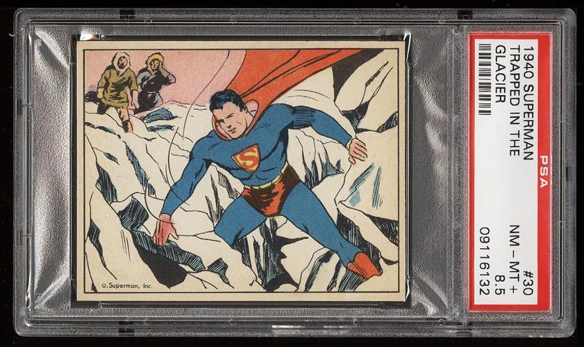 Image of: 1940 Superman Trapped In The Glacier #30 PSA 8.5 NM-MT+ (PWCC)