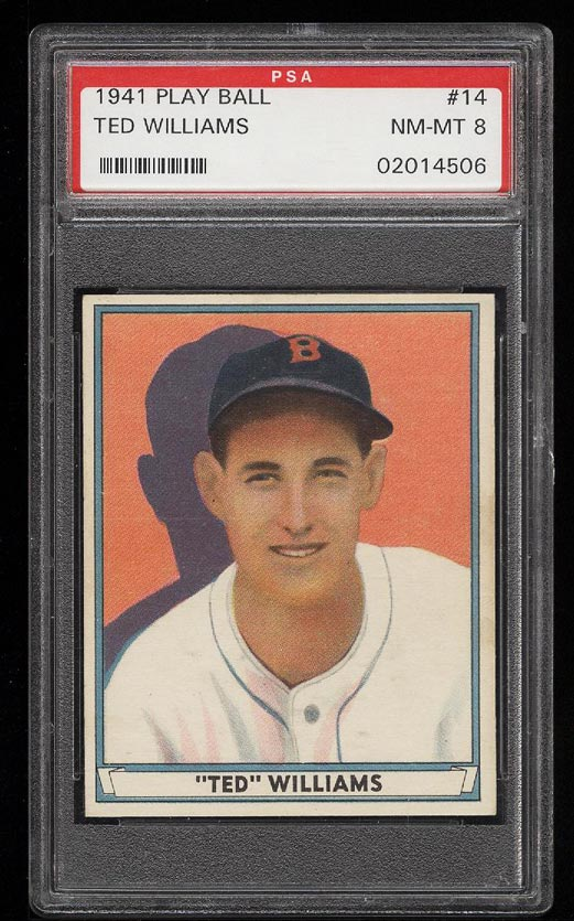 Image of: 1941 Play Ball Ted Williams #14 PSA 8 NM-MT (PWCC)