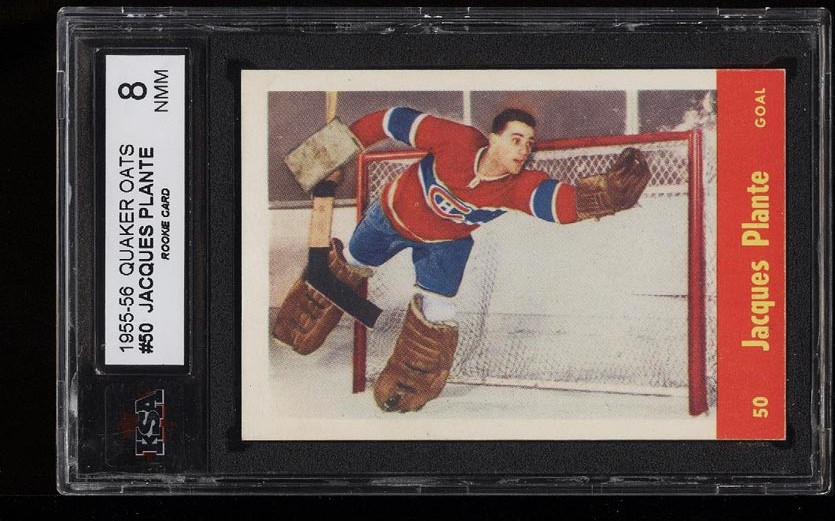 Image of: 1955 Quaker Oats Jacques Plante ROOKIE RC #50 KSA 8 (PWCC)
