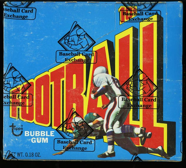 Image of: 1972 Topps FBall 1st Series Wax Box, 24ct Packs, Manning RC, BBCE AUTH (PWCC)