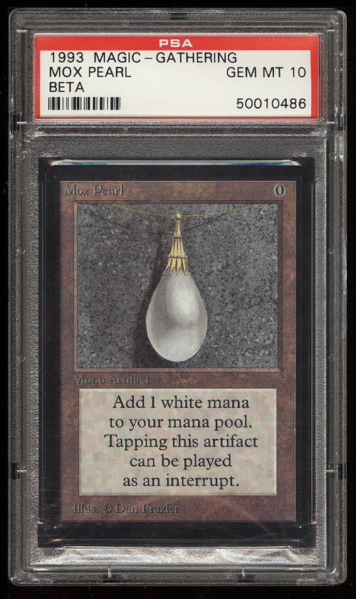 Image of: 1993 Magic The Gathering MTG Beta Mox Pearl R A PSA 10 GEM MINT (PWCC)