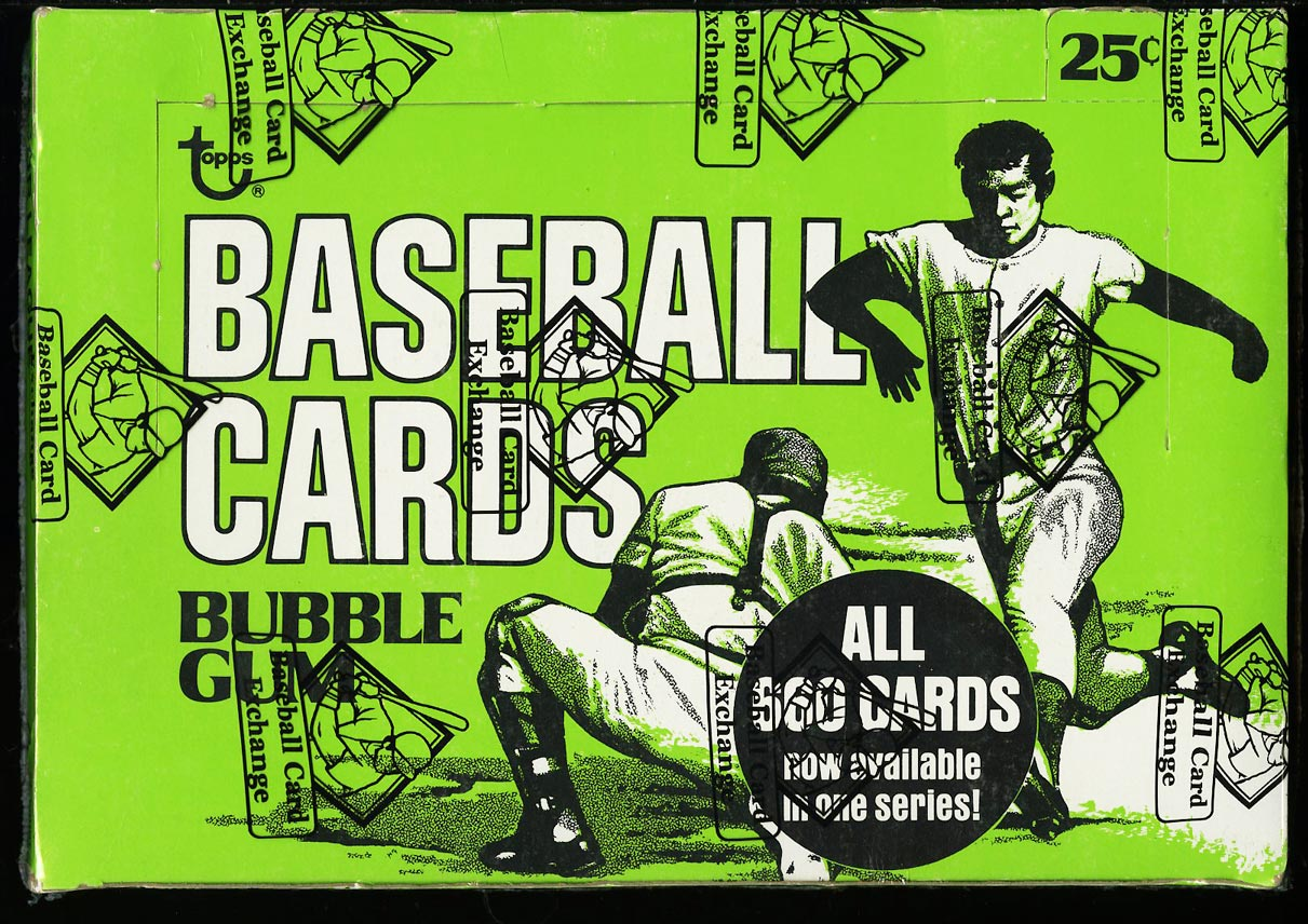 Image of: 1976 Topps Cello Box, 24ct Cello Packs, Brett Eckersley ROOKIE? BBCE AUTH (PWCC)