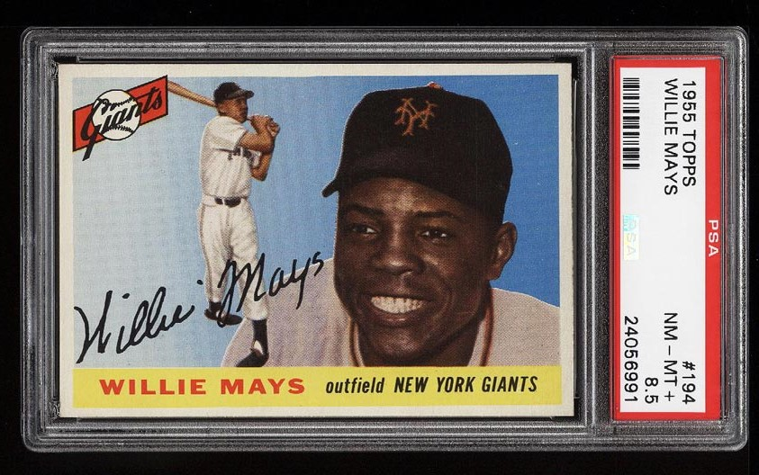 Image of: 1955 Topps Willie Mays #194 PSA 8.5 NM-MT+ (PWCC)