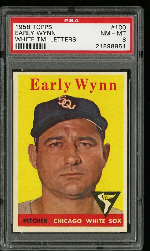 Image of: 1958 Topps Early Wynn #100 PSA 8 NM-MT (PWCC)