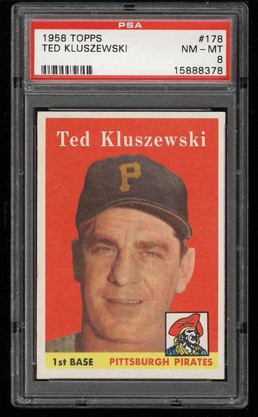 Image of: 1958 Topps Ted Kluszewski #178 PSA 8 NM-MT (PWCC)