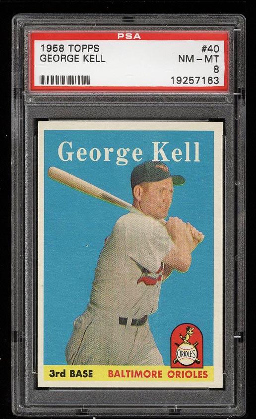 Image of: 1958 Topps George Kell #40 PSA 8 NM-MT (PWCC)