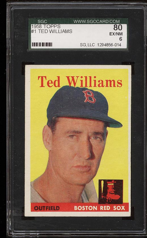 Image of: 1958 Topps Ted Williams #1 SGC 6/80 EXMT (PWCC)