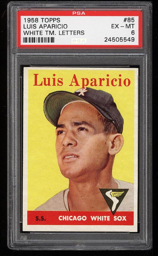 Image of: 1958 Topps Luis Aparicio #85 PSA 6 EXMT (PWCC)