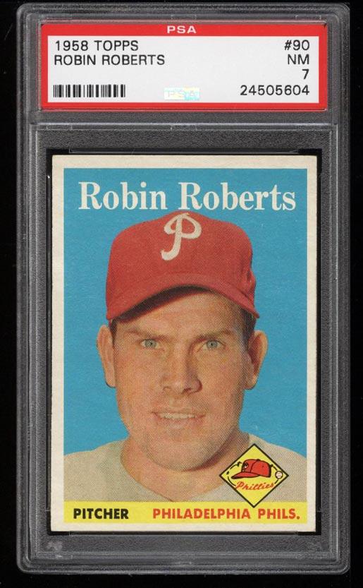Image of: 1958 Topps Robin Roberts #90 PSA 7 NRMT (PWCC)