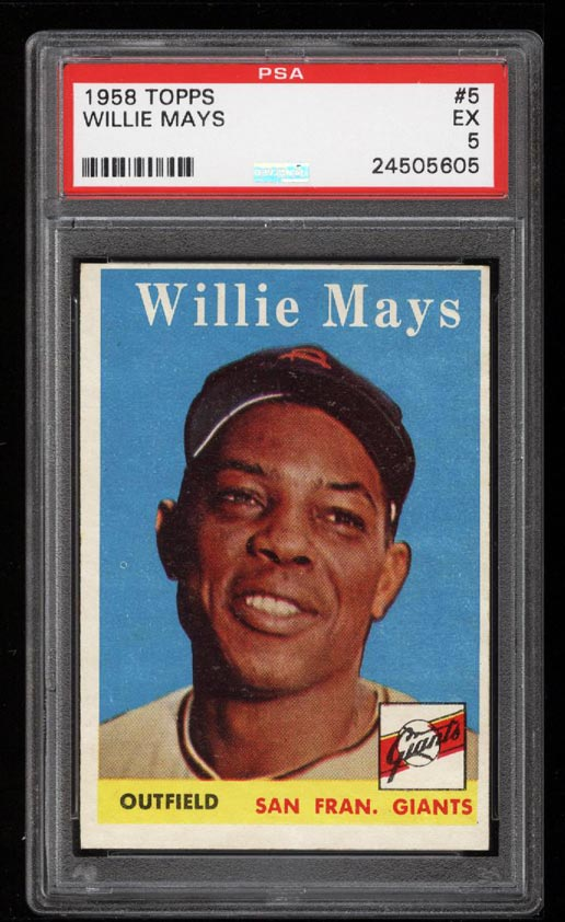 Image of: 1958 Topps Willie Mays #5 PSA 5 EX (PWCC)
