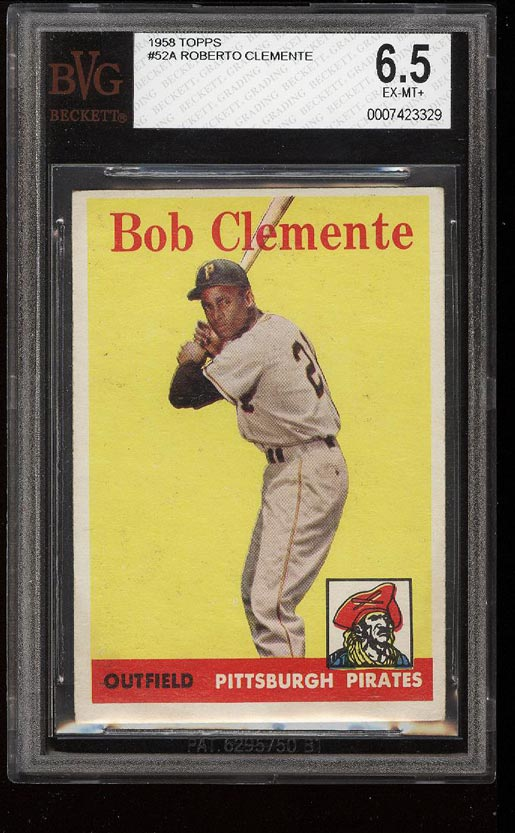 Image of: 1958 Topps Roberto Clemente #52 BVG 6.5 EXMT+ (PWCC)