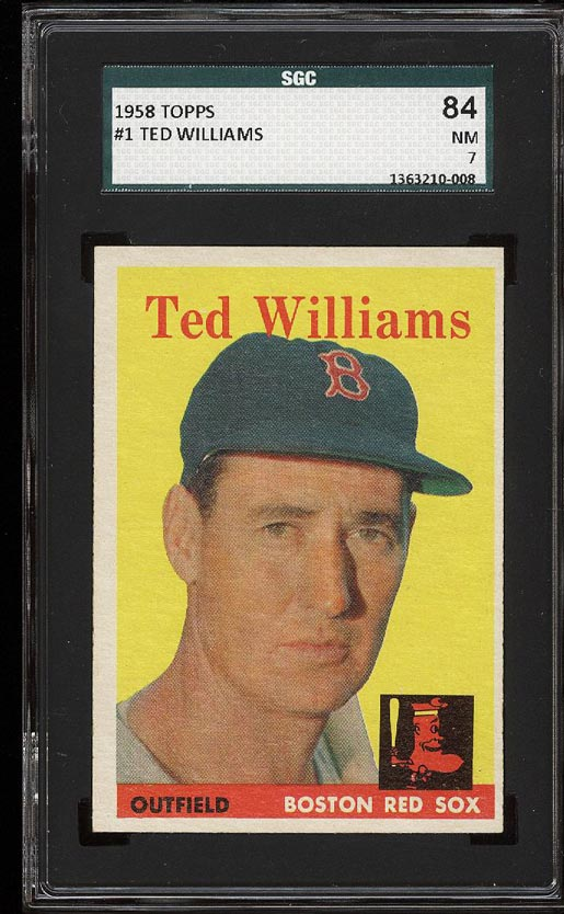 Image of: 1958 Topps Ted Williams #1 SGC 7/84 NRMT (PWCC)