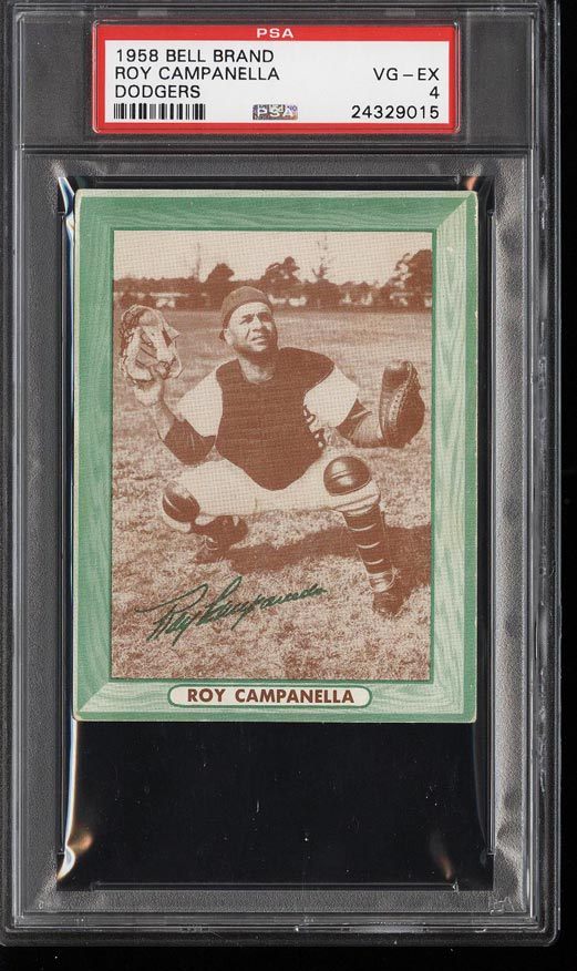 Image of: 1958 Bell Brand Dodgers Roy Campanella PSA 4 VGEX (PWCC)