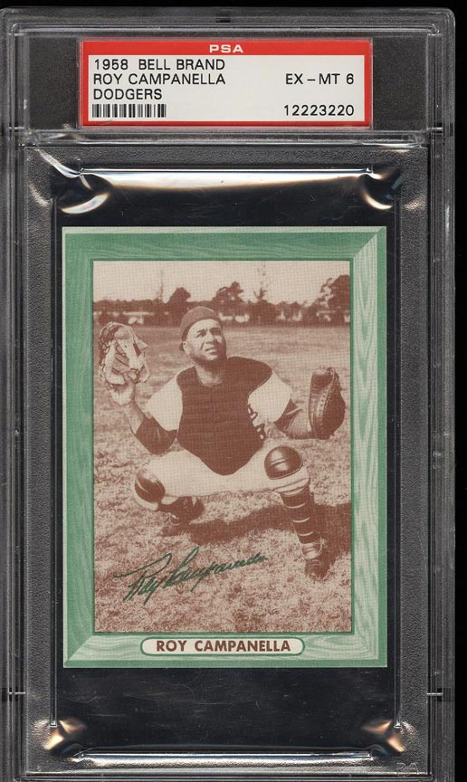 Image of: 1958 Bell Brand Dodgers Roy Campanella PSA 6 EXMT (PWCC)