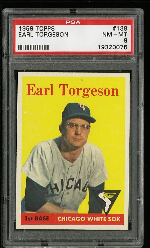 Image of: 1958 Topps Earl Torgeson #138 PSA 8 NM-MT (PWCC)