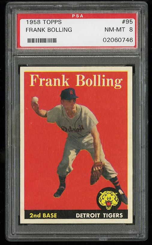 Image of: 1958 Topps Frank Bolling #95 PSA 8 NM-MT (PWCC)