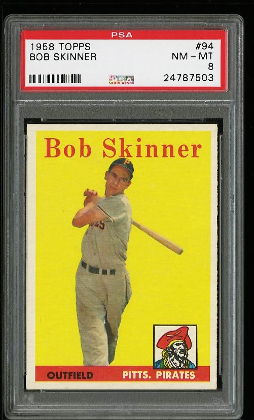 Image of: 1958 Topps Bob Skinner #94 PSA 8 NM-MT (PWCC)