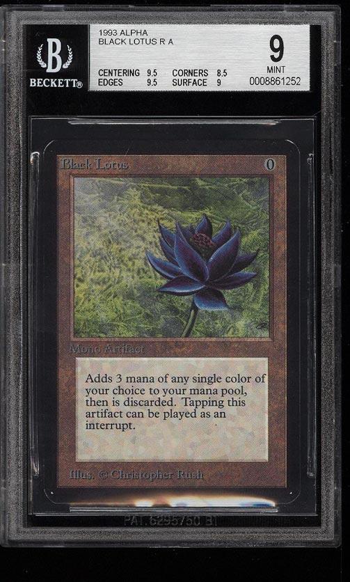 Image of: 1993 Magic The Gathering MTG Alpha Black Lotus R A BGS 9 MINT (PWCC)