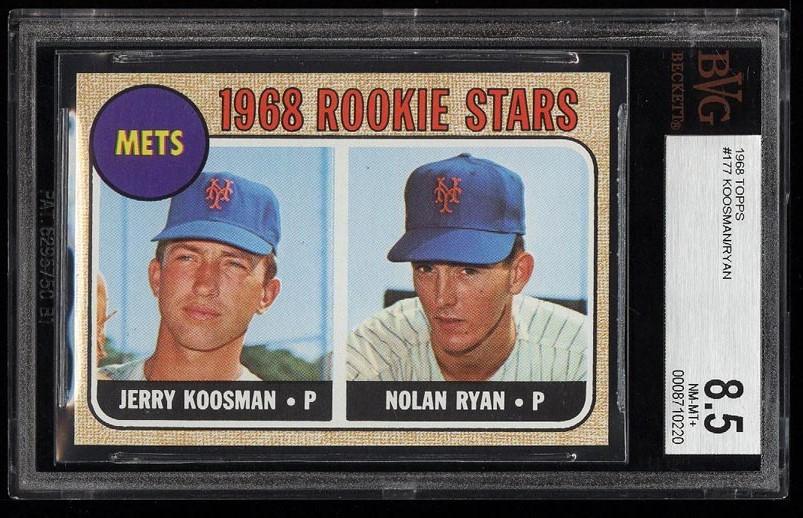 Image of: 1968 Topps Nolan Ryan ROOKIE RC #177 BVG 8.5 NM-MT+ (PWCC)