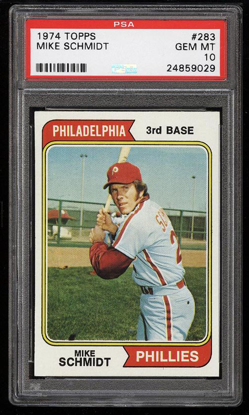 Image of: 1974 Topps Mike Schmidt #283 PSA 10 GEM MINT (PWCC)