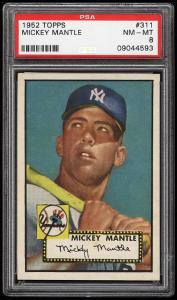 Image of: 1952 Topps Mickey Mantle #311 PSA 8 NM-MT (PWCC)