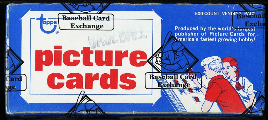 Image of: 1981 Topps Vending Box, 500ct, Gibson Raines Valenzuela ROOKIE? BBCE AUTH (PWCC)