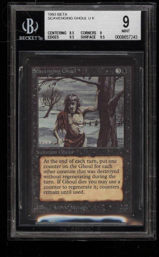 Image of: 1993 Magic The Gathering MTG Beta Scavenging Ghoul U K BGS 9 MINT (PWCC)