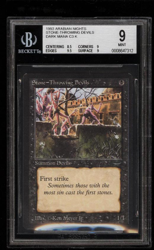 Image of: 1993 Magic The Gathering MTG Arabian Nights Stone Throwing Devils BGS 9 (PWCC)